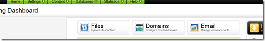 Godaddy hosting dashboard