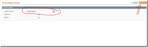 Magento selecting theme