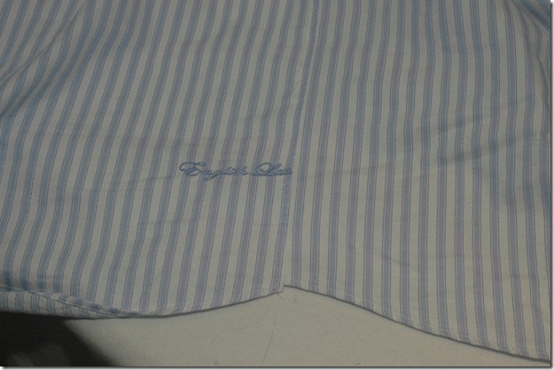 Altered shirt seam