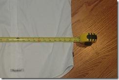 Unaltered shirt  width