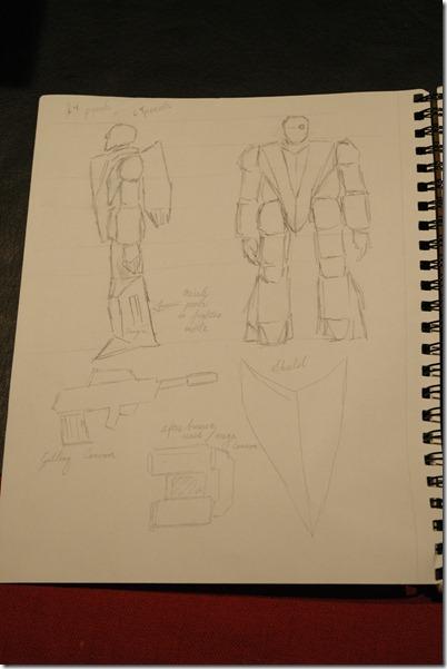 Archimedean Assault Robot concept art 2